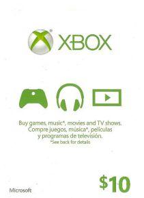 XBOX Live 10$ US