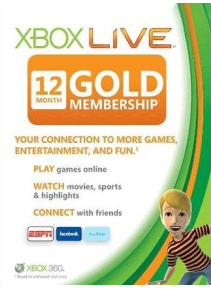 Xbox Live Gold 12 Month Global