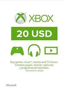 XBOX Live 20$ US