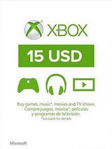 XBOX Live 15$ US
