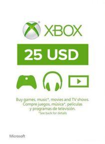 XBOX Live 25$ US